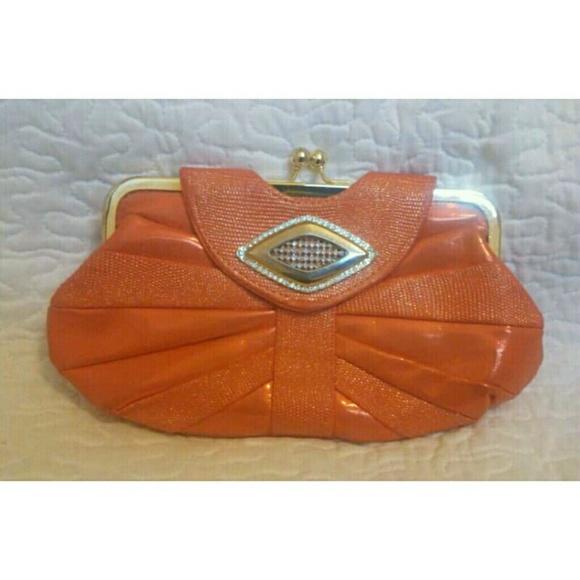 Handbags - *SOLD* Orange Clutch Purse